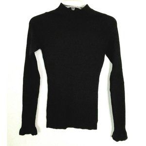 Rachel Parcell Mock Neck Ribbed Long Sleeve Top